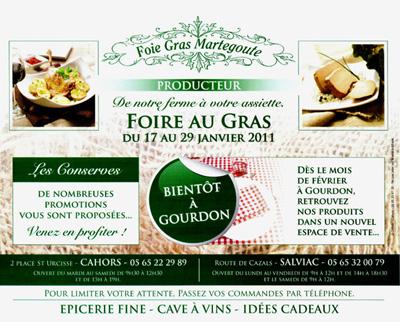 Foire au gras Martegoute à Salviac et Cahors